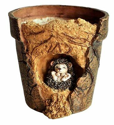 Baby Hedgehog Functional Flower Pot (4214) Fairy Garden Miniature