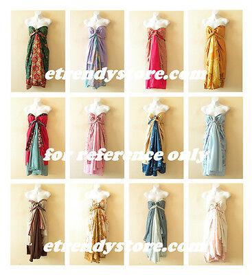 10pcs Wholesale Lot Vintage Silk Magic Wrap Skirt Halter ...