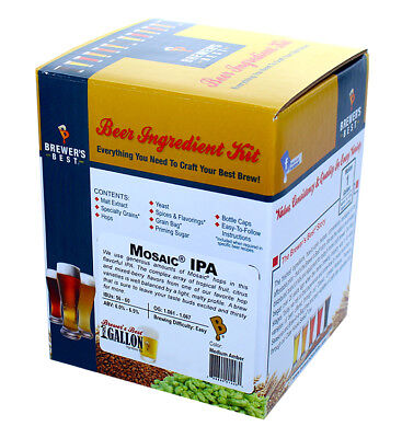 Brewer's Best One Gallon Home Brew Beer Ingredient Kit (Mosaic