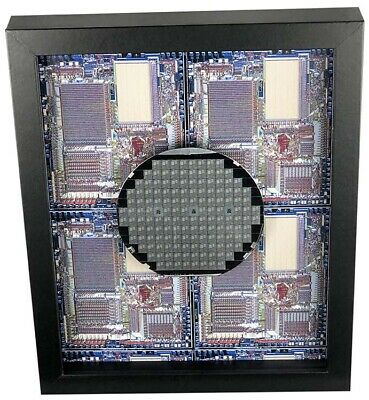 Silicon Wafer with Rockwell Microprocessor Chips - 4 inch,Aloha