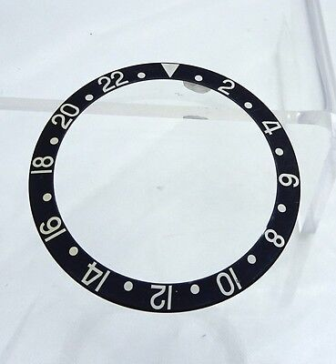 Used Rolex GMT Master 2 Black Stainless Steel 16700 Watch Bezel Insert Part