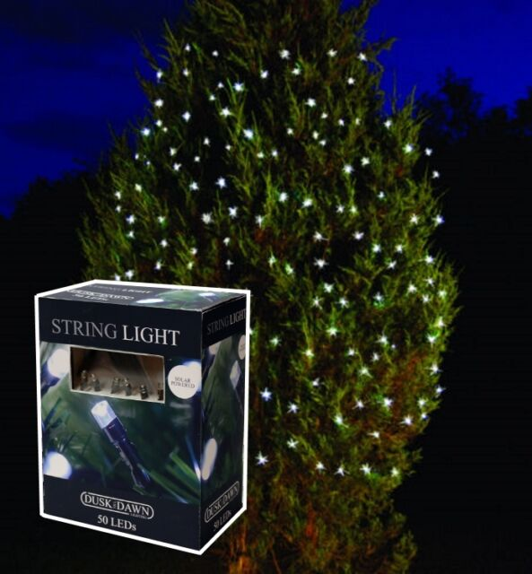 6.9M LED STRING SOLAR POWER WHITE CHRISTMAS TREE FAIRY LIGHTS - 50 BULBS SLSL2