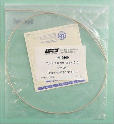 New Upchurch Idex Pm-2500 Tubing Peek Natural 116 Od X 0.015 Id X 24 Length