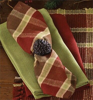 Napkin - Cedar Falls by Park Designs - Kitchen Dining - Red Brown Green Plaid