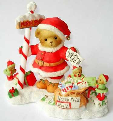 CHERISHED TEDDIES 1995 FIGURINE, 4010091, LIMITED EDITION, SANTA, 4010091, NIB