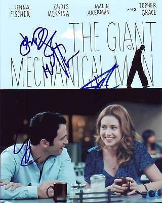 Chris Messina Jenna Fischer Topher Grace   Malin Akerman Signed 8X10 Photograph