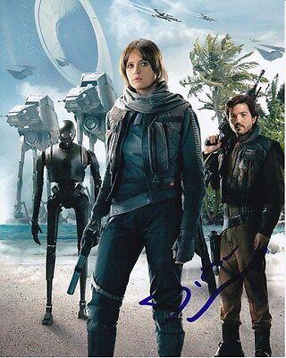 Diego Luna Signed Star Wars Rogue One Cassian Andor W  Felicity Jones Photo