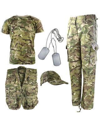 Kombat UK  Kid's Camo Explorer Kit Outfit Army Soldier Hunting Shooting BTP CAMO