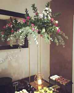 Gold tall wedding centrepieces Sunshine Brimbank Area Preview