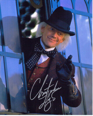 Christopher Lloyd Autographed 8x10 Photograph Actor Back To The Future COA TTM