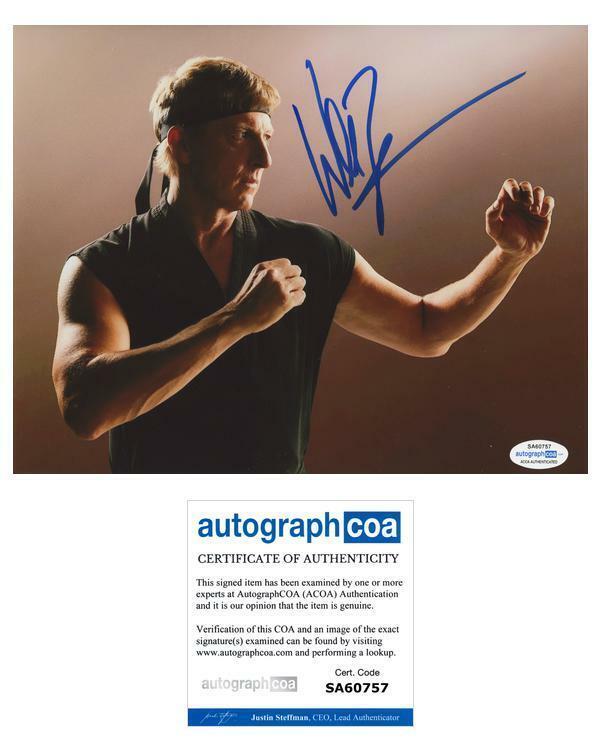 """William Zabka """"Cobra Kai"""" AUTOGRAPH Signed 'Johnny Lawrence' 8x10 Photo D ACOA"""
