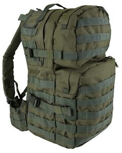 Olive-Green-Medium-40-ltr-Daysack-Army-Camping-Rucksack-Assault-Pack