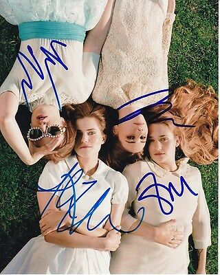 Girls Signed Cast Photo Lena Dunham Allison Williams Zosia Mamet Jemima Kirke
