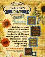 Moncton Crafter's fair September 10th M. Lions club