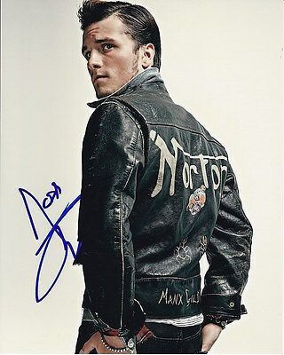 Josh Hutcherson Signed Autographed Norton Leather Jacket Photo