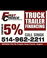 FINANCING AVAILABLE FOR ALL TRUCKS, TRAILERS, TOW TRUCK!