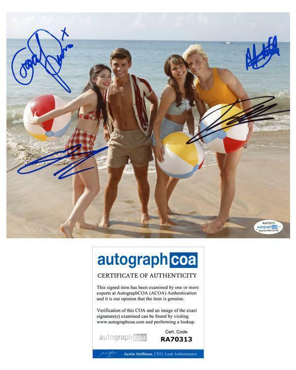 """""""Teen Beach Movie"""" Cast AUTOGRAPHS Signed 8x10 Photo - Ross Lynch +3 ACOA"""