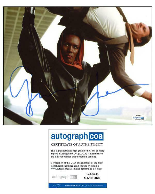 "Grace Jones ""A View to a Kill"" AUTOGRAPH Signed 'May Day' Bond 8x10 Photo ACOA"