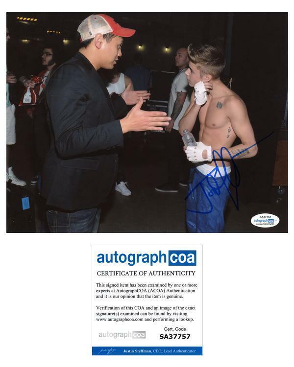 "Jon M. Chu ""Justin Bieber: Never Say Never"" Director SIGNED 8x10 Photo ACOA"