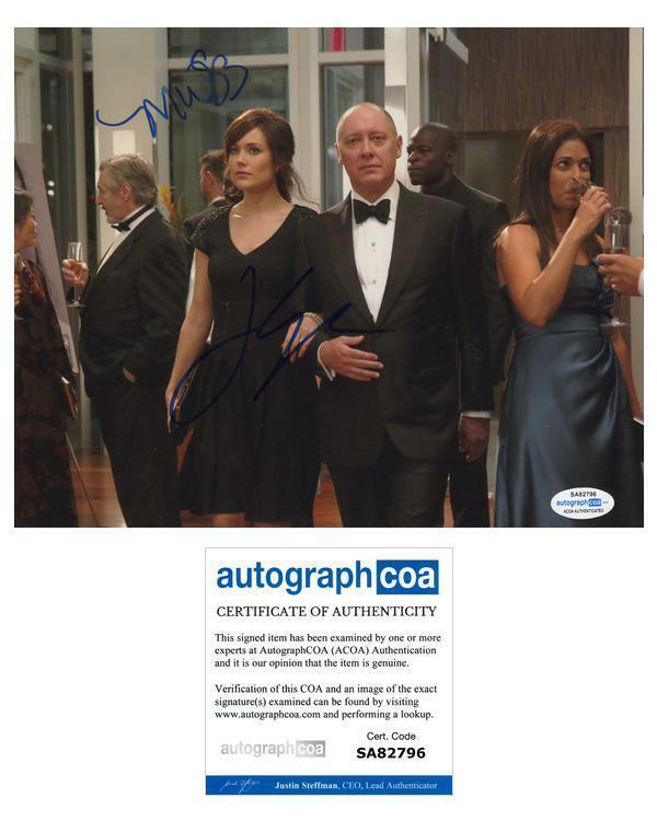 "James Spader & Megan Boone ""The Blacklist"" AUTOGRAPHS Signed 8x10 Photo ACOA"