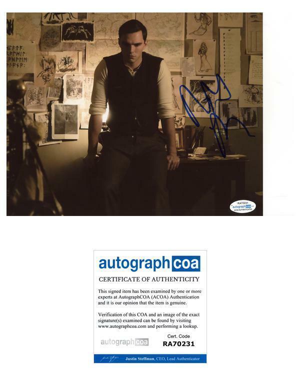 """Nicholas Hoult """"Tolkien"""" AUTOGRAPH Signed 8x10 Photo B ACOA"""