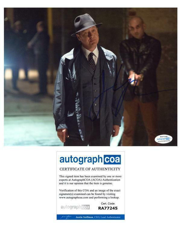 "James Spader ""The Blacklist"" AUTOGRAPH Signed 8x10 Photo L ACOA"