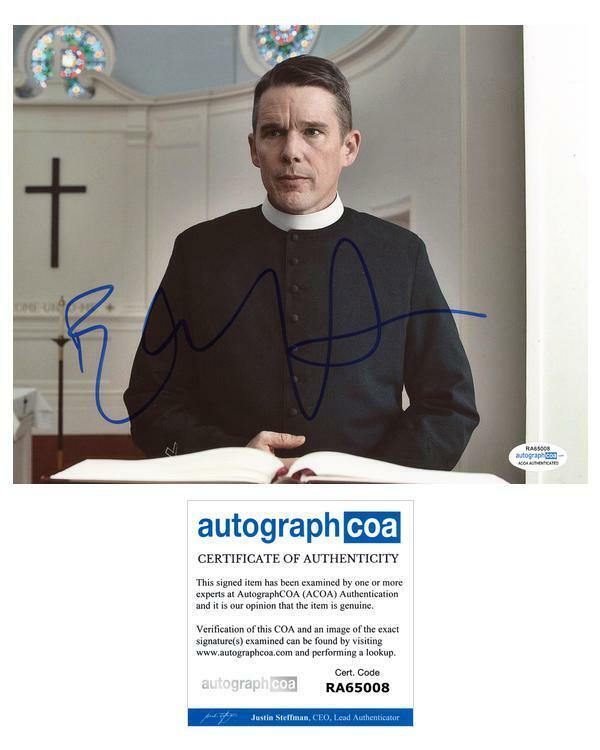"""Ethan Hawke """"First Reformed"""" AUTOGRAPH Signed 8x10 Photo ACOA"""