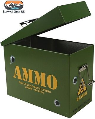 Ammo Lunch Box Military Style Carry Case/ Camouflage / Camo / Storage Tin