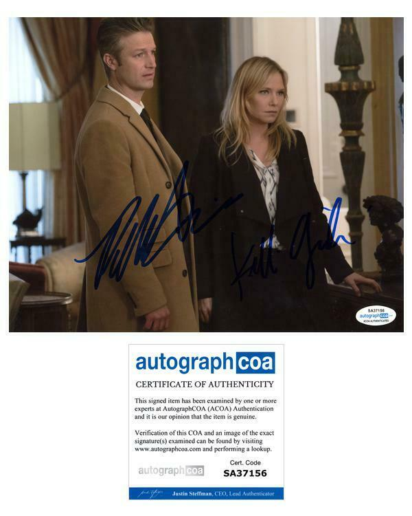 "Kelli Giddish & Peter Scanavino ""Law & Order: SVU"" AUTOGRAPHS Signed 8x10 Photo"