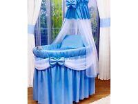 Babys Blue Crib Brand New Rrp £300