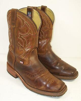 Double-H Mens 11.5 EE ICE Sole Distressed Leather Soft Toe Cowboy Boots DH3560