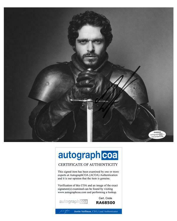 """Richard Madden """"Game of Thrones"""" AUTOGRAPH Signed 8x10 Photo B ACOA"""