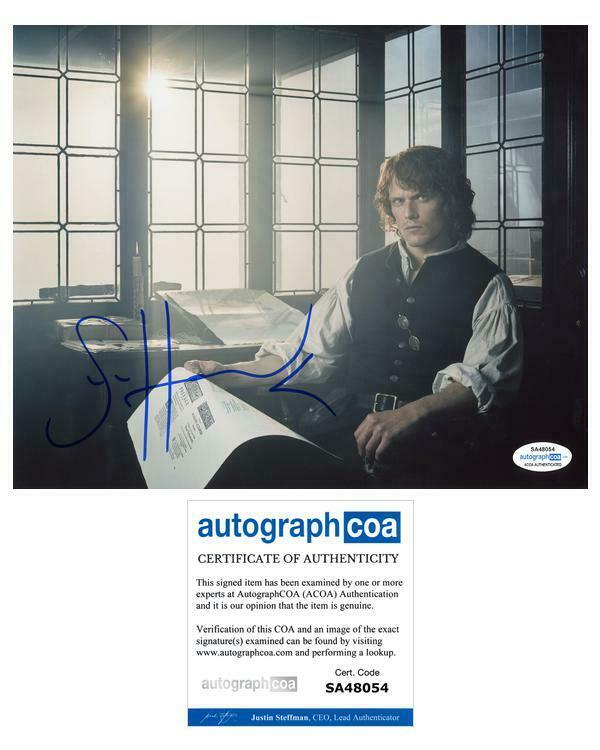 "Sam Heughan ""Outlander"" AUTOGRAPH Signed 'Jamie Fraser' 8x10 Photo ACOA"