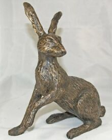 2 Bronze Hares By local artist John Rattenbury
