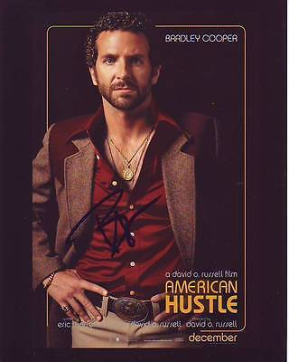 Bradley Cooper Signed Autographed 8X10 American Hustle Photograph