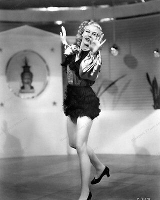 8x10 Print Ginger Rogers Sexy Leggy Costumed Dance
