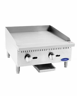 24 Commercial Flat-top Grill Natural Gas Manual Griddle Nsf 2 Foot Wide