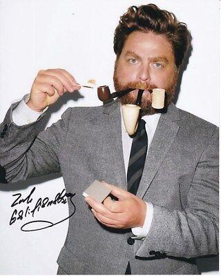 Zach Galifianakis Signed Photo W  Hologram Coa