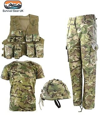 Kids Army BTP Camo Fancy Dress Children's Soldier Outfit Uniform FREE DELIVERY (Childs Army Outfit)
