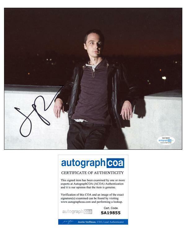 "Jim Parsons ""The Big Bang Theory"" AUTOGRAPH Signed 8x10 Photo H ACOA"