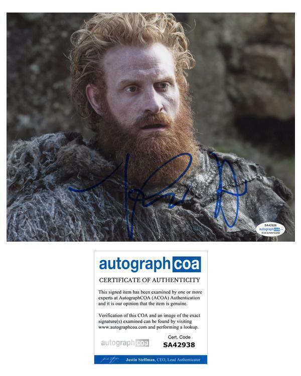 "Kristofer Hivju ""Game of Thrones"" AUTOGRAPH Signed 'Tormund' 8x10 Photo ACOA"