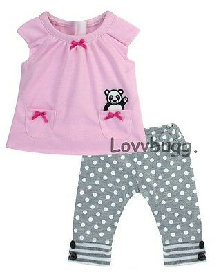 Pink Panda Top n Leggings Set For Bitty Baby Doll Clothes