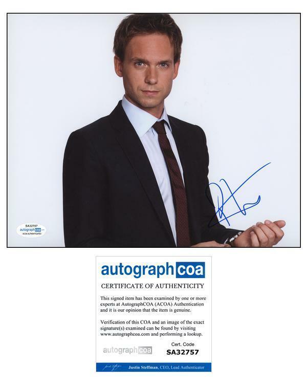 "Patrick J. Adams ""Suits"" AUTOGRAPH Signed 'Mike Ross' 8x10 Photo B ACOA"
