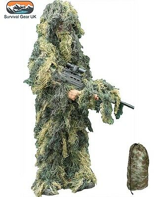 Kids Army Ghillie Camo Fancy Dress Children's Soldier - Kinder Army Outfits