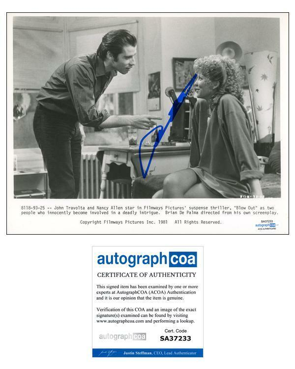 "John Travolta ""Blow Out"" AUTOGRAPH Signed 'Jack' 8x10 Photo ACOA"