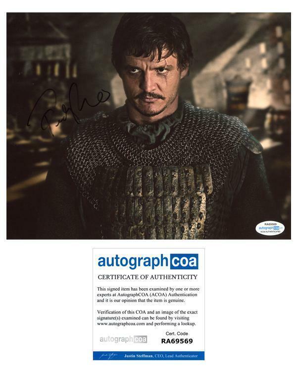 "Pedro Pascal ""Game of Thrones"" AUTOGRAPH Signed 8x10 Photo E ACOA"