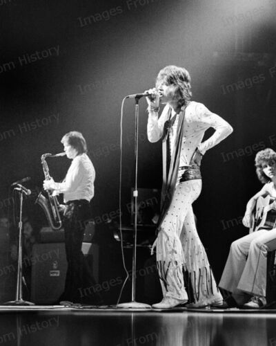 8x10 Print Mick Jagger Performing on Stage The Rolling Stones #MJRS