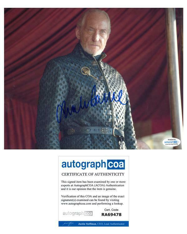 "Charles Dance ""Game of Thrones"" AUTOGRAPH Signed 8x10 Photo D ACOA"