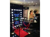 Magic Mirror booth selfie mirror photo booth Hertfordshire,Kent...weddings parties barmitzvahs £399