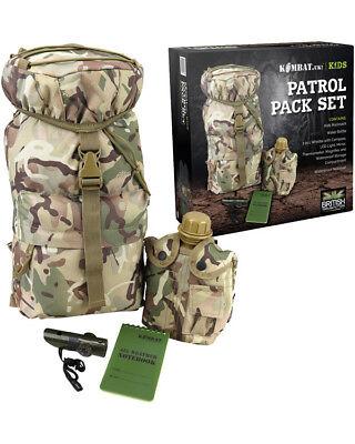 Kombat UK Kid's Patrol Pack Set Kid's Rucksack Camouflage Hunting/Shooting